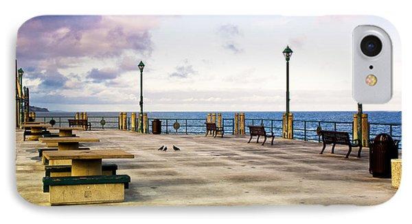 Pigeon Meeting At Redondo Pier IPhone Case