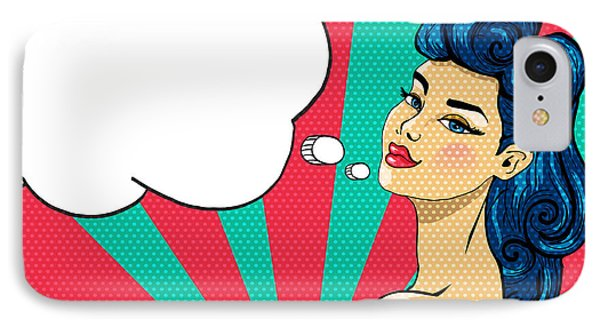 Beauty In Nature iPhone 8 Case - Pin-up Girl With Tattoo - Illustration by Romashechka