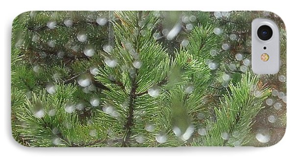 Pine Tree In The Rain IPhone Case