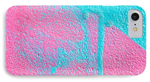 Pink And Blue Paint IPhone Case