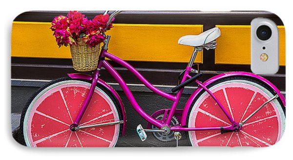 Bicycle iPhone 8 Case - Pink Bike by Garry Gay