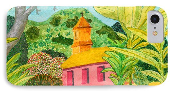 Pink Church In A Tropical Forest IPhone Case