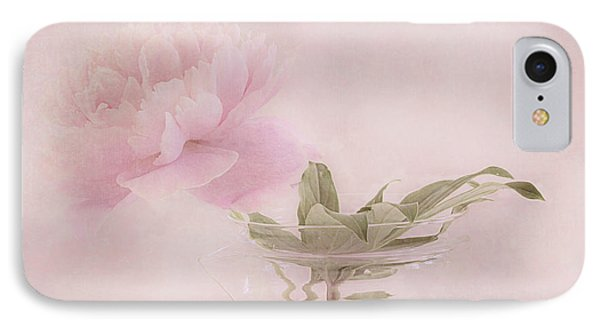 Pink Peony Blossom In Clear Glass Tea Pot IPhone Case