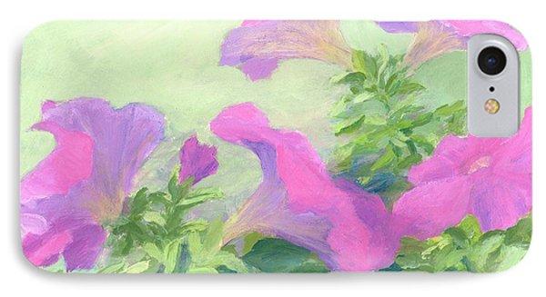 Pink Petunias Beautiful Flowers Art Colorful Original Garden Floral Flower Artist K. Joann Russell  IPhone Case