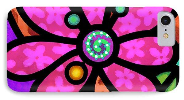 Pink Pinwheel Daisy IPhone Case