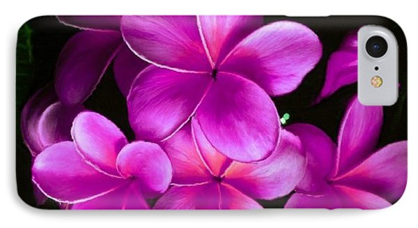 Pink Plumeria IPhone Case