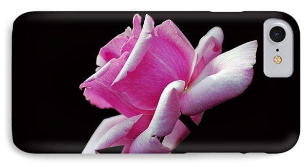 Pink Rose On Black IPhone Case