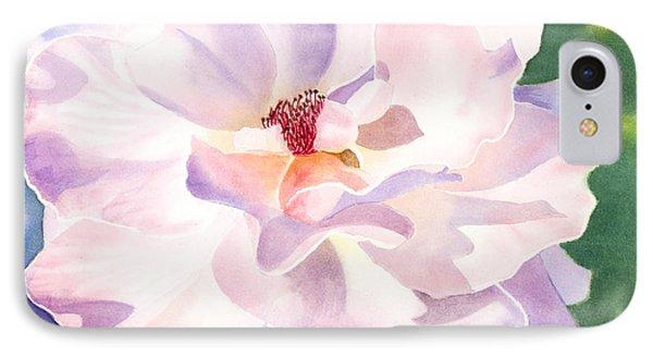 Pink Rose - Transparent Watercolor IPhone Case