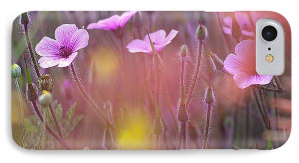 Pink Wild Geranium IPhone Case