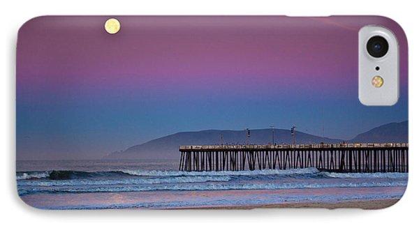 Pismo Beach Moonset At Sunrise IPhone Case