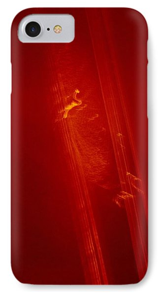 Plane Signature In Red 3 IPhone Case