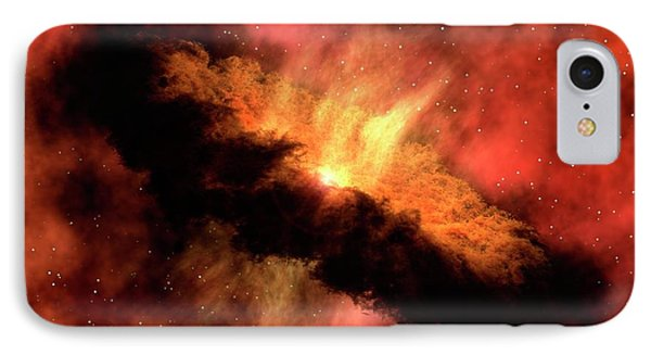 Planet-forming Disk Around A Star IPhone Case