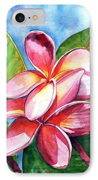 Playful Plumeria IPhone Case