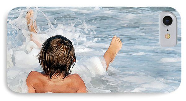 Playing In The Waves IPhone Case