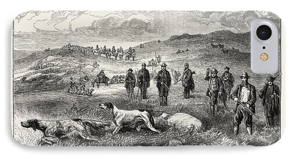 Pointer And Setter Grouse Trials At Rhiwlas IPhone Case
