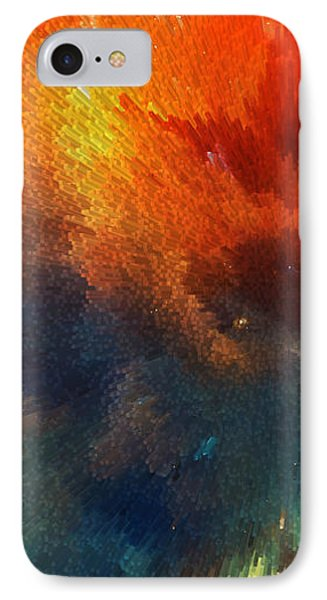 Mustard iPhone 8 Case - Points Of Light Abstract Art By Sharon Cummings by Sharon Cummings