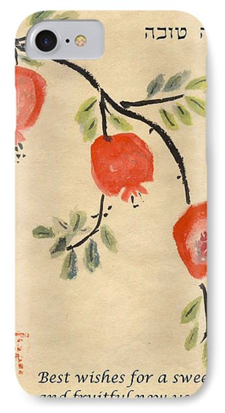 Pomegranates For Rosh Hashanah IPhone Case