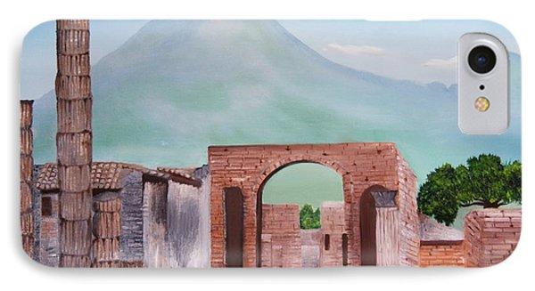 Pompeii And Vesuvius   IPhone Case