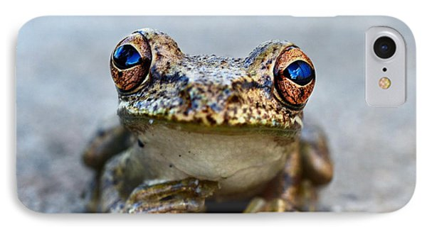 Whimsical iPhone 8 Case - Pondering Frog by Laura Fasulo