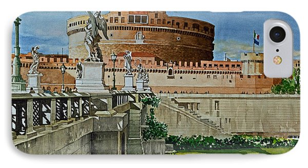 Pont Sant'angelo Bridge And Castle IPhone Case