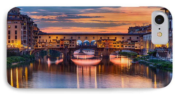 Ponte Vecchio At Sunset IPhone Case