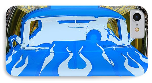 Pop Art 1955 Bel Air Blue IPhone Case