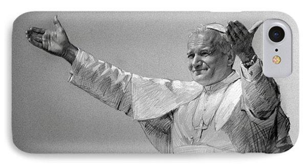 Pope John Paul II Bw IPhone Case