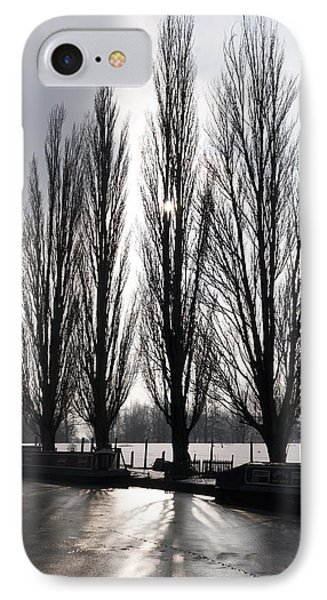 Poplars In Winter IPhone Case