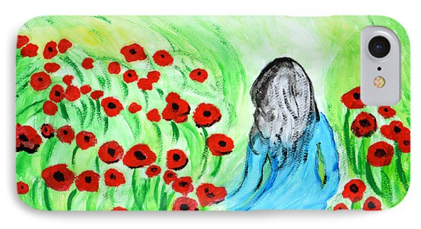 Poppies Field Illusion IPhone Case