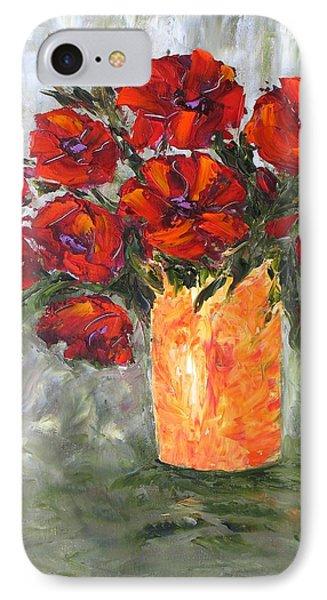 Poppies In Orange Vase IPhone Case