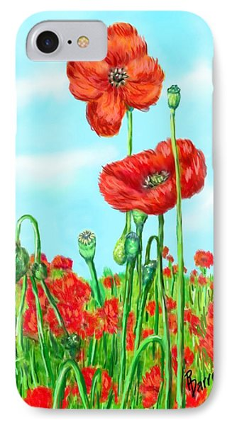 Poppies N' Pods IPhone Case