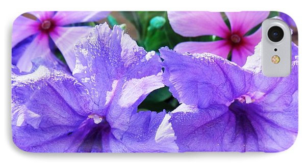 Popping Purple Petals Beauty IPhone Case