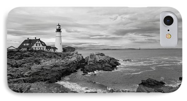 Portland Lighthouse Black And White IPhone Case