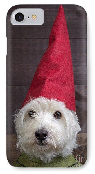 Elf iPhone 8 Case - Portrait Of A Garden Gnome by Edward Fielding