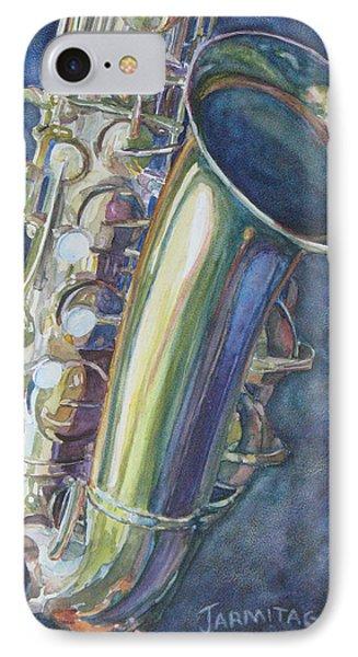 Portrait Of A Sax IPhone Case