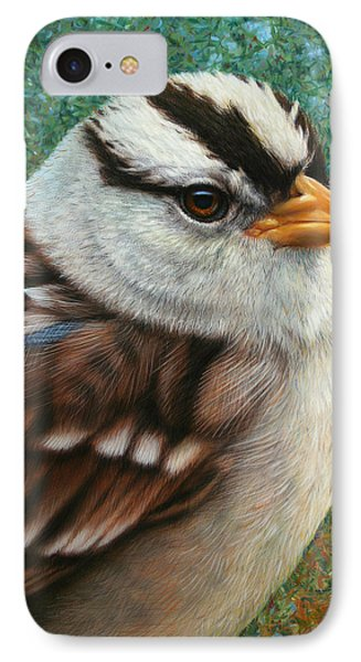 England iPhone 8 Case - Portrait Of A Sparrow by James W Johnson