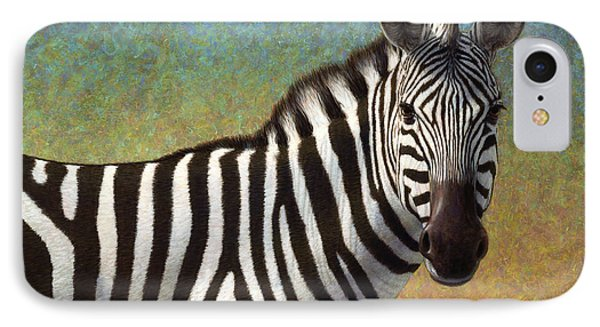 Africa iPhone 8 Case - Portrait Of A Zebra by James W Johnson