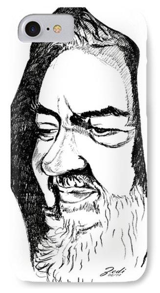Portrait Of Padre Pio IPhone Case