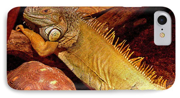 Posing Iguana And Friend IPhone Case