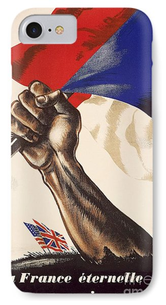 Poster For Liberation Of France From World War II 1944 IPhone Case