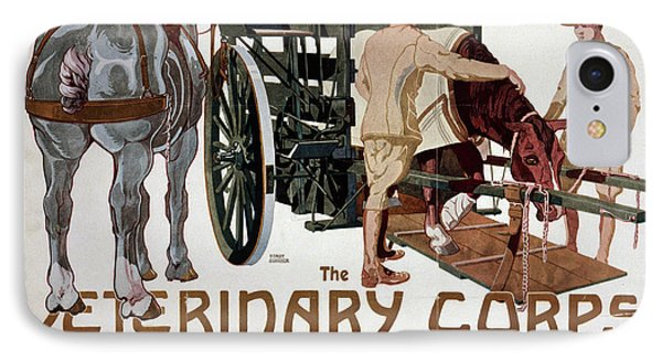 Poster Veterinary Corps IPhone Case