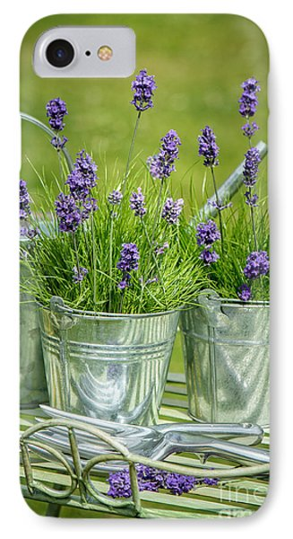 Garden iPhone 8 Case - Pots Of Lavender by Amanda Elwell