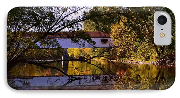 Potter's Covered Bridge Reflection IPhone Case
