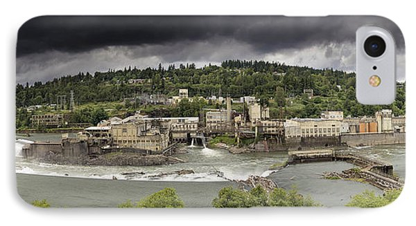 Power Plant At Willamette Falls Lock IPhone Case