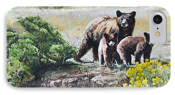 Prairie Black Bears IPhone Case