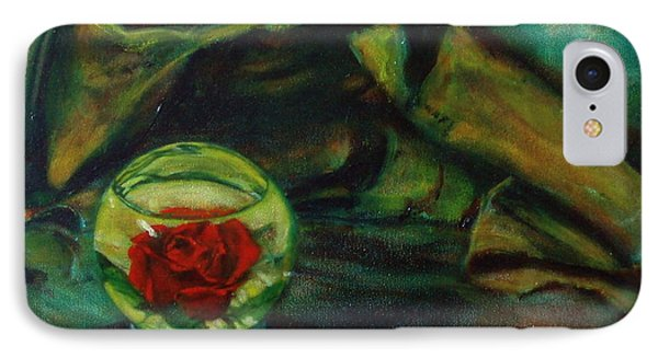 Preserved Rose . . Draped Canvas IPhone Case