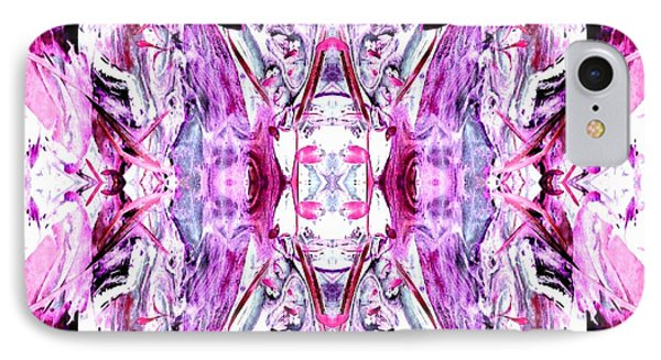 Pretty Pink Weeds Abstract  2 IPhone Case