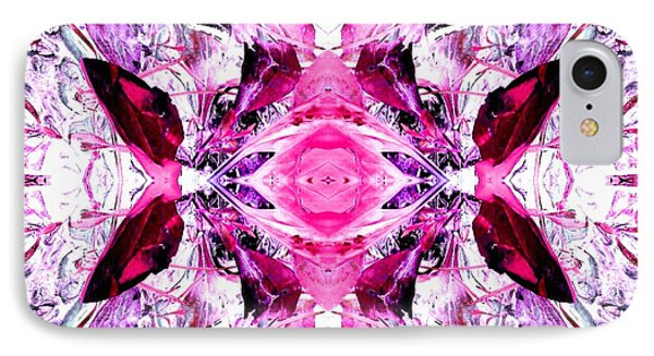 Pretty Pink Weeds Abstract  3 IPhone Case