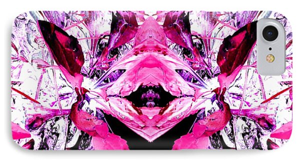 Pretty Pink Weeds Abstract  5 IPhone Case