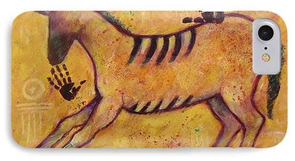 Primitive Color Horse IPhone Case
